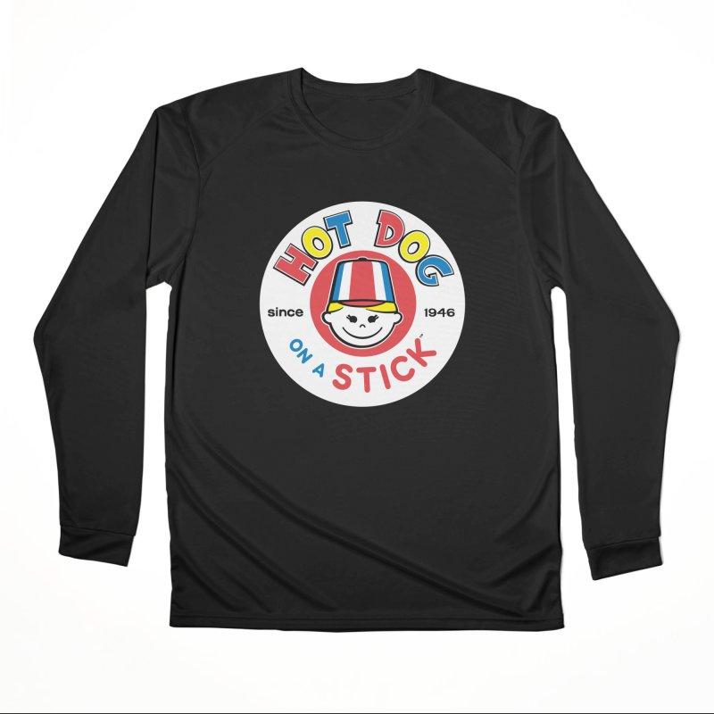Hot Dog on a Stick Logo Men's Performance Longsleeve T-Shirt by Hot Dog On A Stick's Artist Shop