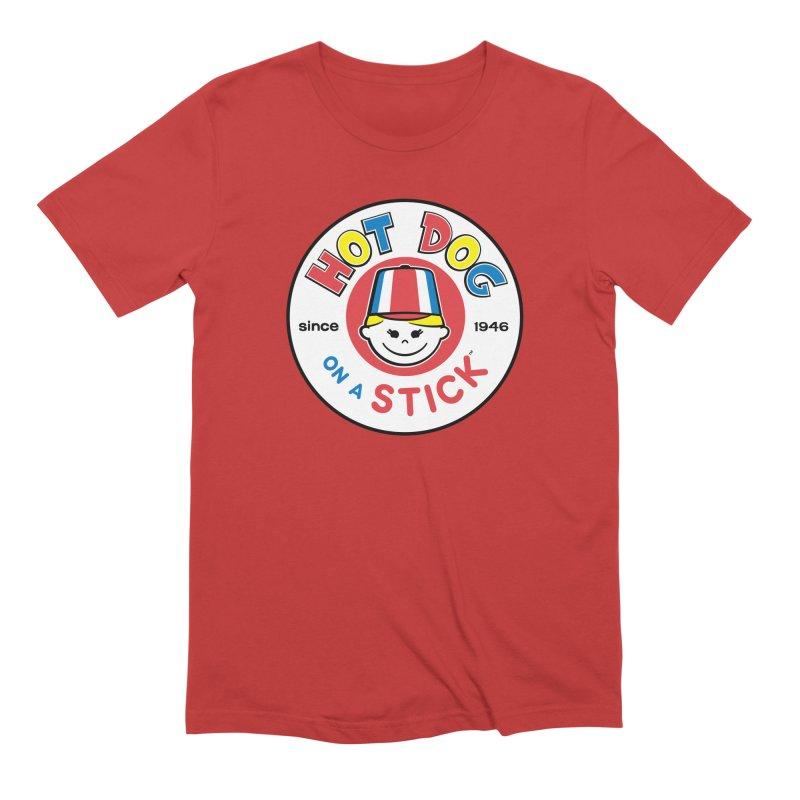 Hot Dog on a Stick Logo Men's Extra Soft T-Shirt by Hot Dog On A Stick's Artist Shop