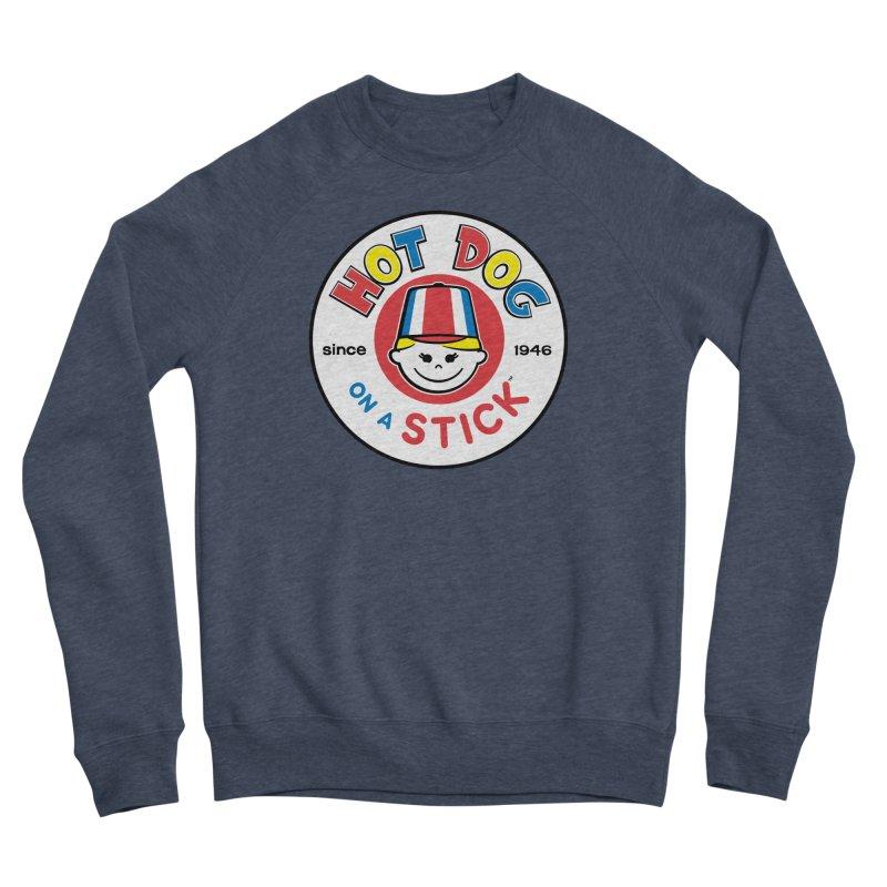 Hot Dog on a Stick Logo Women's Sponge Fleece Sweatshirt by Hot Dog On A Stick's Artist Shop