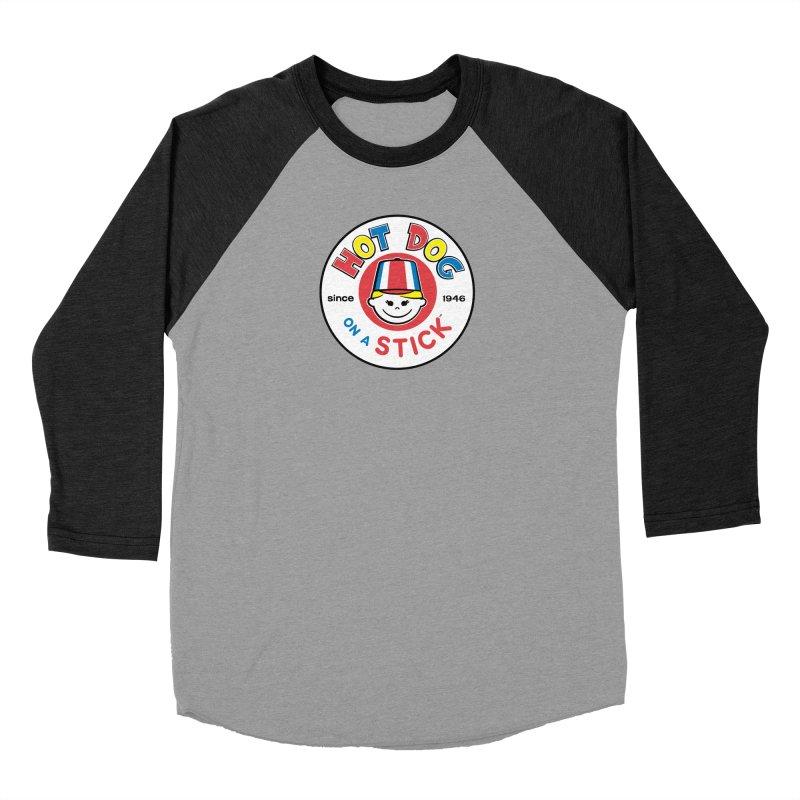 Hot Dog on a Stick Logo Men's Baseball Triblend Longsleeve T-Shirt by Hot Dog On A Stick's Artist Shop