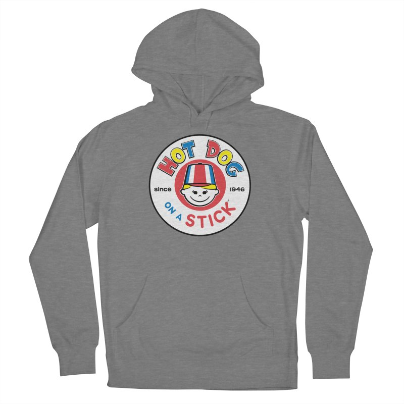 Hot Dog on a Stick Logo Women's French Terry Pullover Hoody by Hot Dog On A Stick's Artist Shop