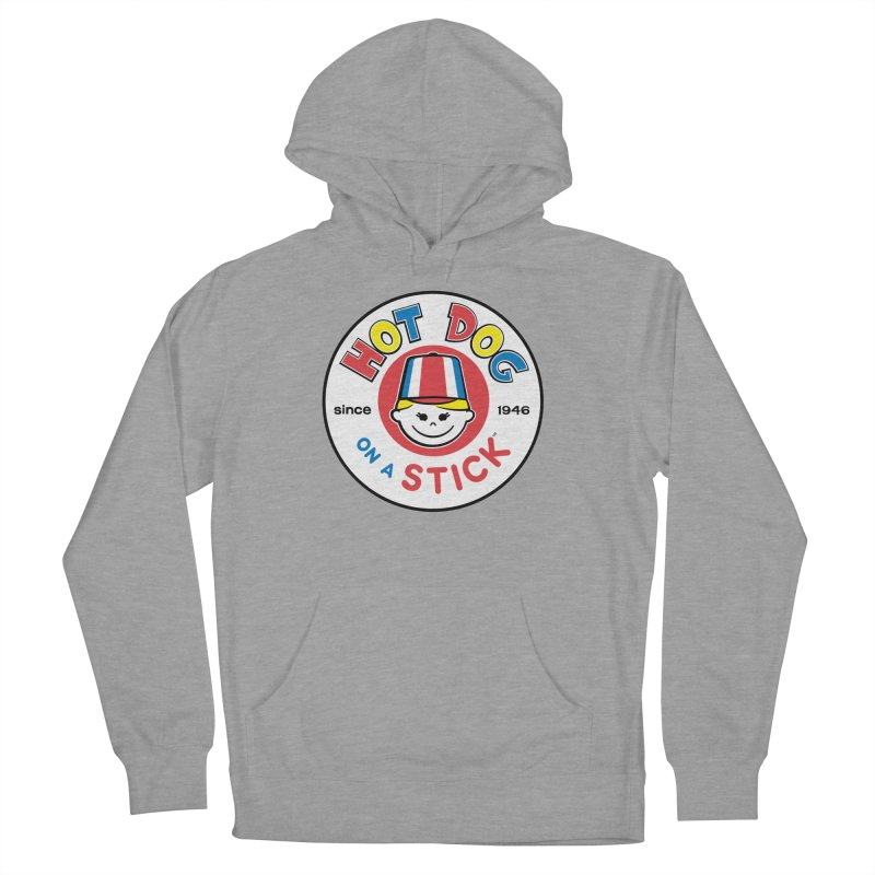 Hot Dog on a Stick Logo Men's French Terry Pullover Hoody by Hot Dog On A Stick's Artist Shop