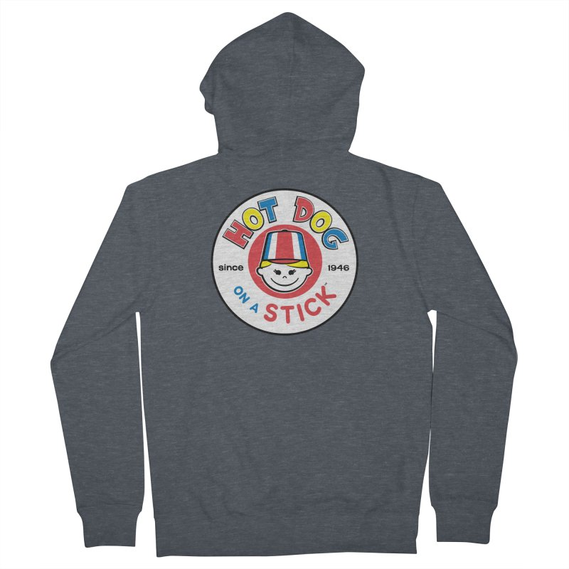Hot Dog on a Stick Logo Men's French Terry Zip-Up Hoody by Hot Dog On A Stick's Artist Shop