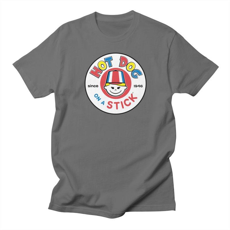 Hot Dog on a Stick Logo Men's T-Shirt by Hot Dog On A Stick's Artist Shop