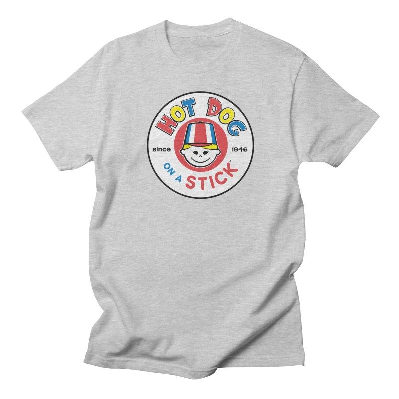 Hot Dog on a Stick Logo Men's Regular T-Shirt by Hot Dog On A Stick's Artist Shop