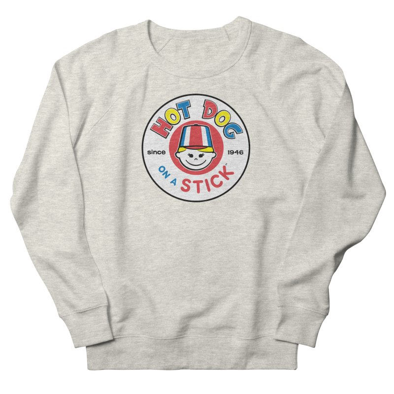 Hot Dog on a Stick Logo Women's French Terry Sweatshirt by Hot Dog On A Stick's Artist Shop