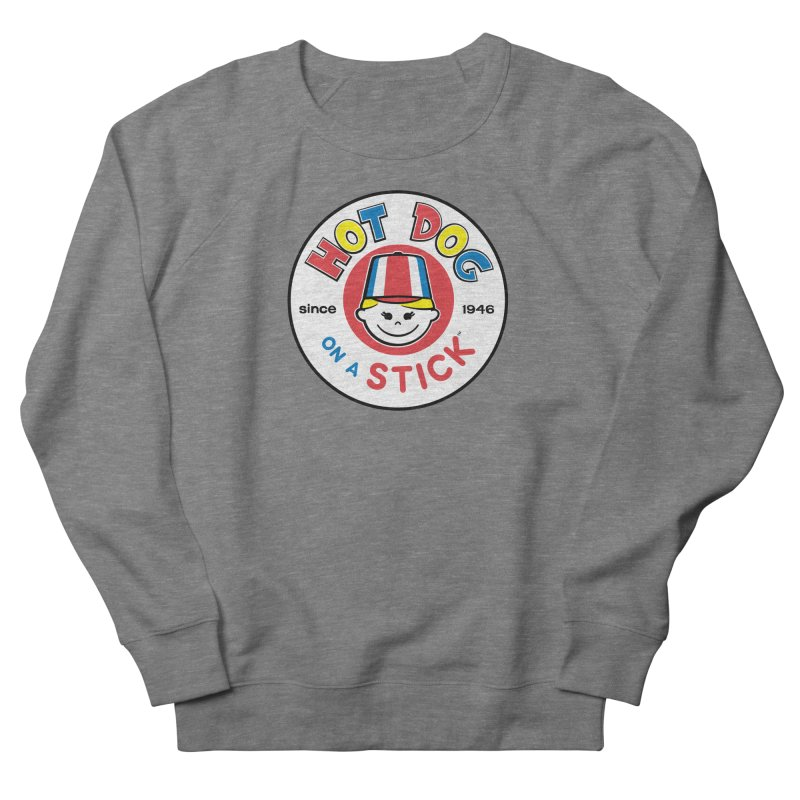 Hot Dog on a Stick Logo Men's French Terry Sweatshirt by Hot Dog On A Stick's Artist Shop