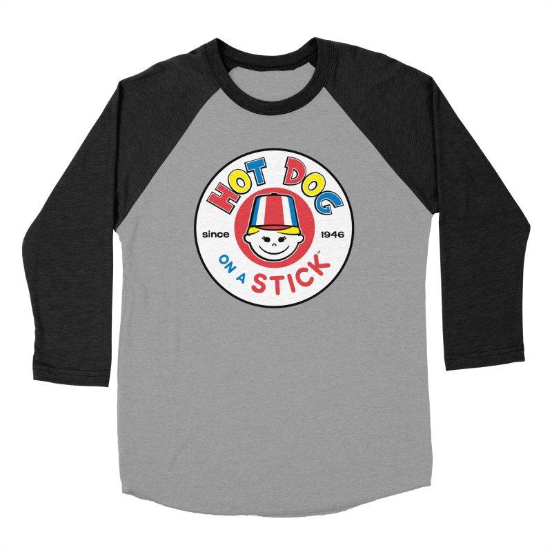 Hot Dog on a Stick Logo Women's Baseball Triblend Longsleeve T-Shirt by Hot Dog On A Stick's Artist Shop