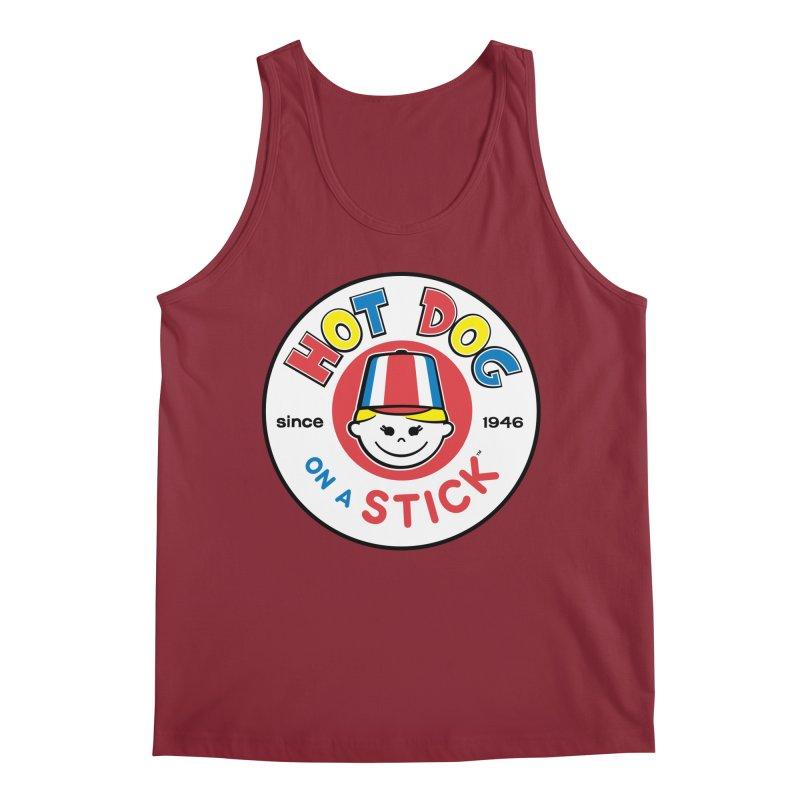 Hot Dog on a Stick Logo Men's Tank by Hot Dog On A Stick's Artist Shop