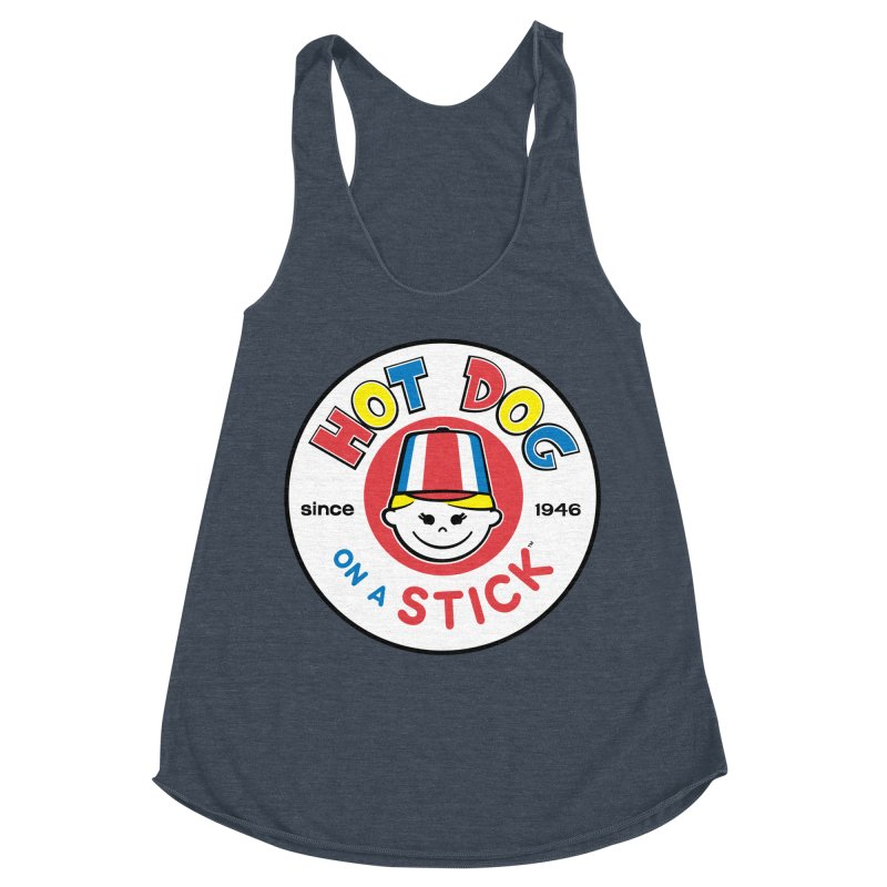 Hot Dog on a Stick Logo Women's Racerback Triblend Tank by Hot Dog On A Stick's Artist Shop