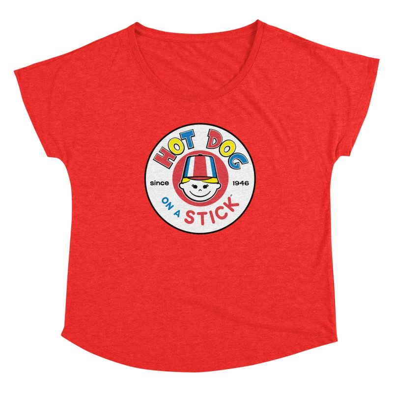 Hot Dog on a Stick Logo Women's Scoop Neck by Hot Dog On A Stick's Artist Shop