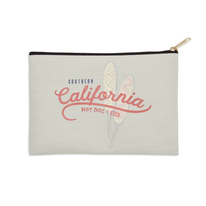 Southern California Accessories Zip Pouch by Hot Dog On A Stick's Artist Shop