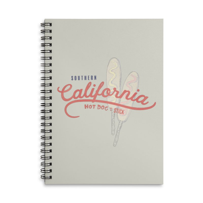Southern California Accessories Lined Spiral Notebook by Hot Dog On A Stick's Artist Shop