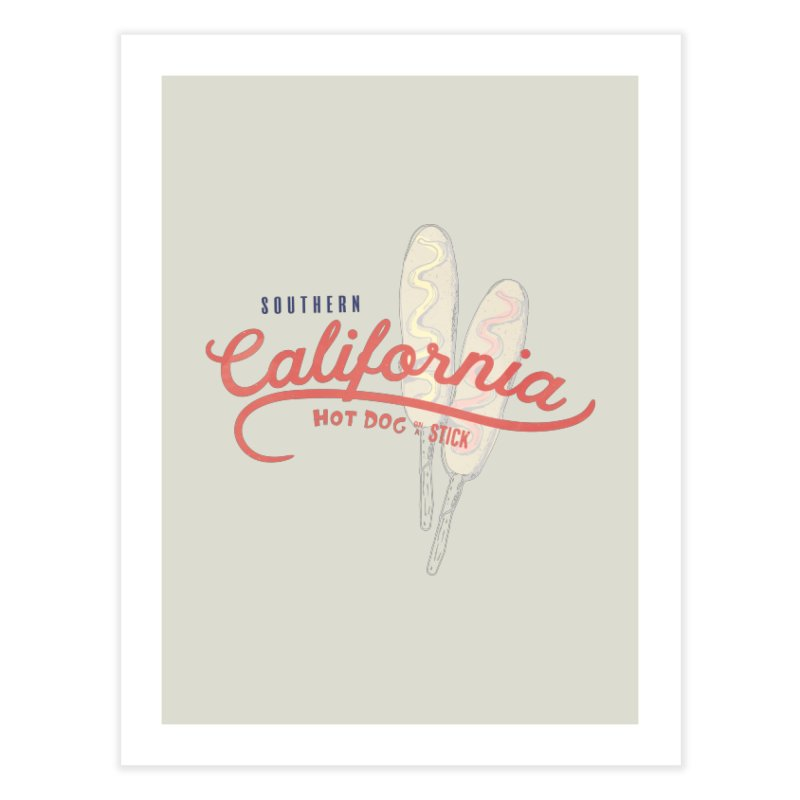 Southern California Home Fine Art Print by Hot Dog On A Stick's Artist Shop