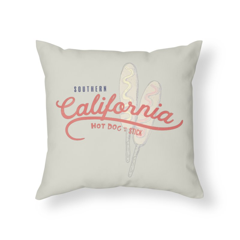 Southern California Home Throw Pillow by Hot Dog On A Stick's Artist Shop