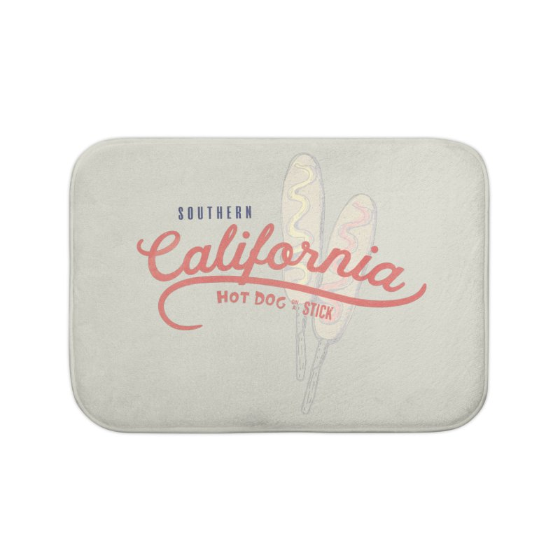 Southern California Home Bath Mat by Hot Dog On A Stick's Artist Shop