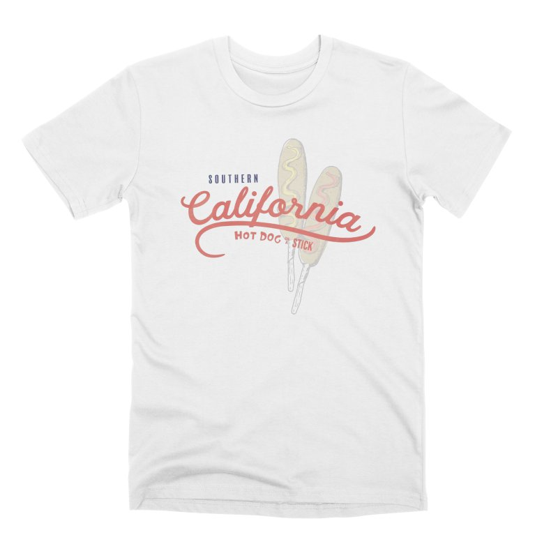 Southern California Men's T-Shirt by Hot Dog On A Stick's Artist Shop
