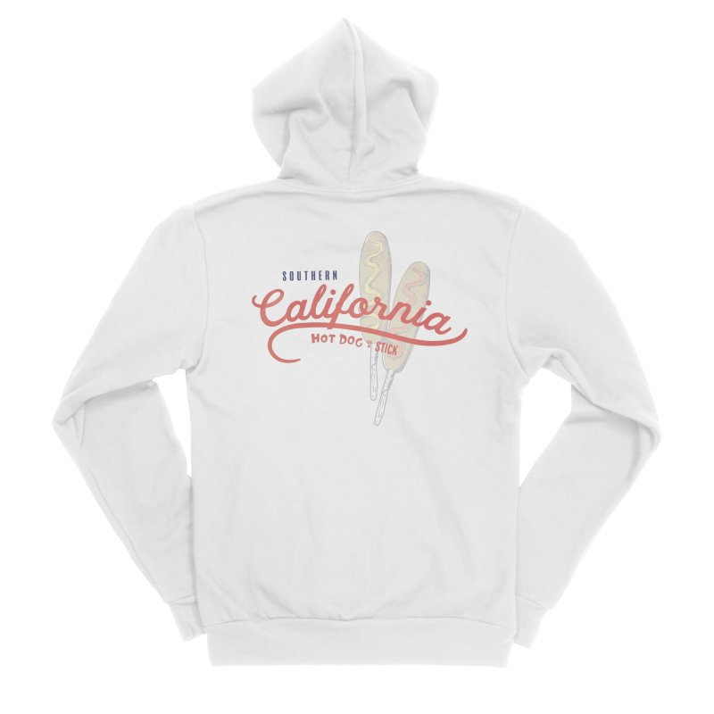 Southern California Men's Zip-Up Hoody by Hot Dog On A Stick's Artist Shop