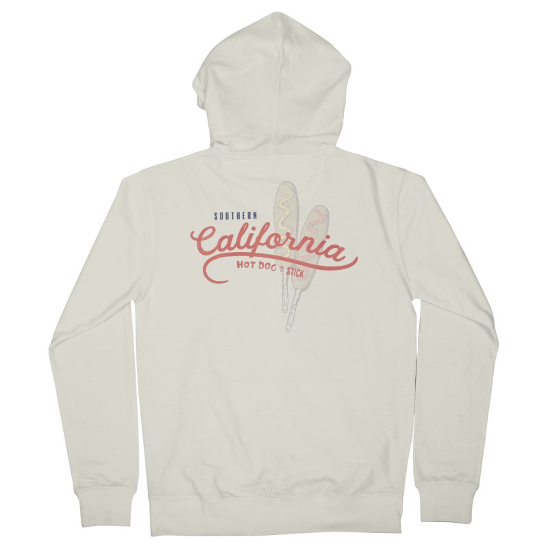 Southern California in Women's French Terry Zip-Up Hoody Heather Oatmeal by Hot Dog On A Stick's Artist Shop