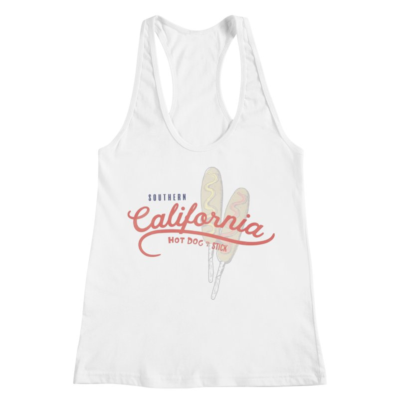 Southern California Women's Racerback Tank by Hot Dog On A Stick's Artist Shop