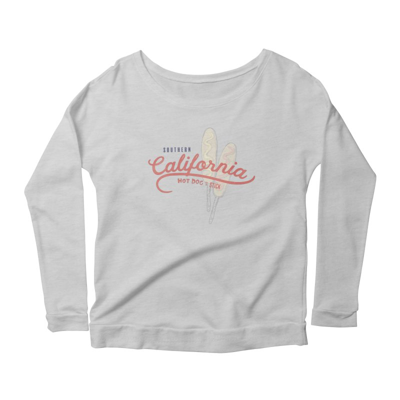 Southern California Women's Scoop Neck Longsleeve T-Shirt by Hot Dog On A Stick's Artist Shop