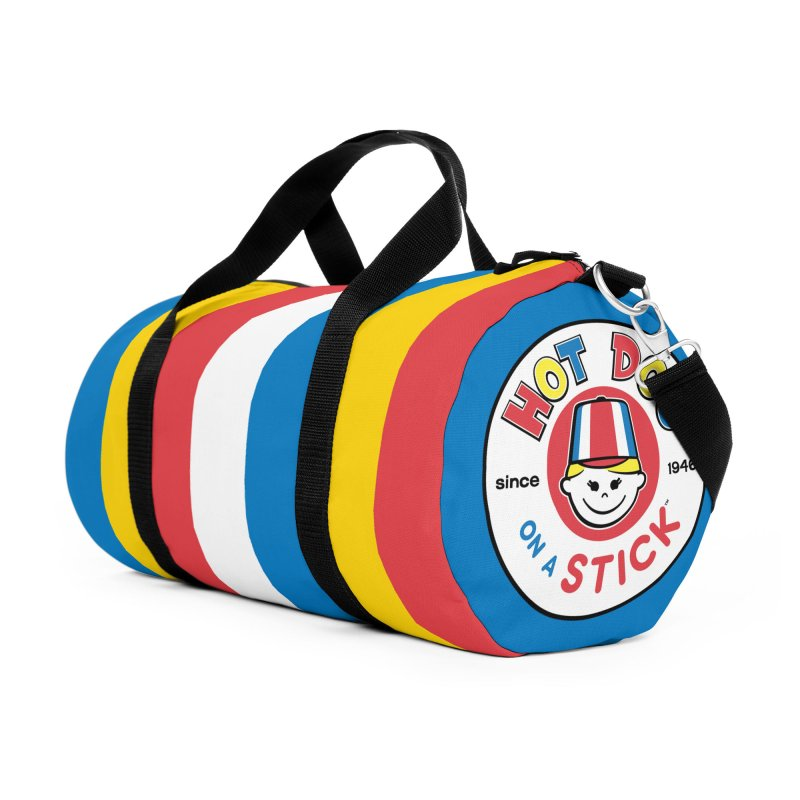 Hot Dog on a Stick Stripes in Duffel Bag by Hot Dog On A Stick's Artist Shop