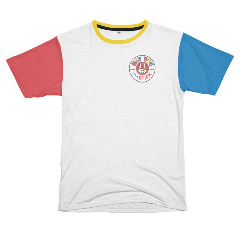 Hot Dog on a Stick Stripes Men's French Terry T-Shirt Cut & Sew by Hot Dog On A Stick's Artist Shop