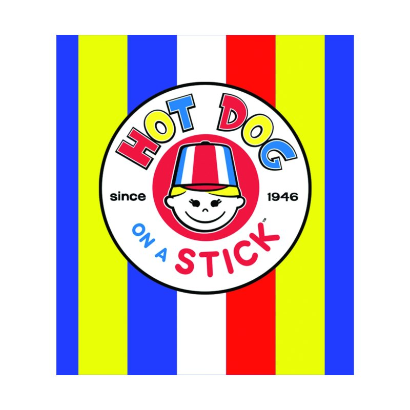 Hot Dog on a Stick Stripes Accessories Skateboard by Hot Dog On A Stick's Artist Shop