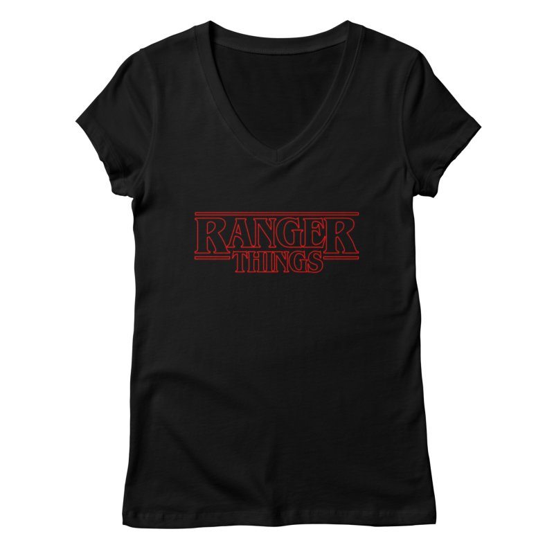 Ranger Things Women's V-Neck by TEE's by HOTSNAKES
