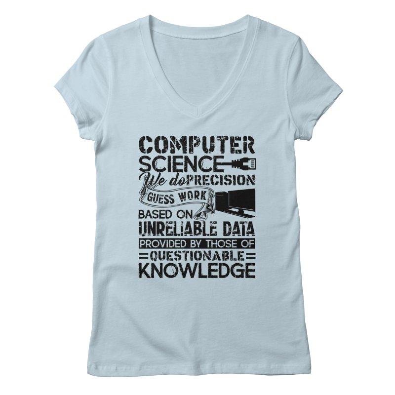 Hottrendtee Proud Computer Science Shirt Womens V Neck