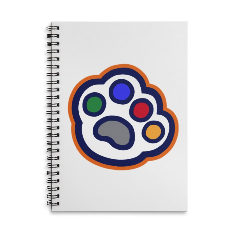 The Hound Picked Paw of Approval in Lined Spiral Notebook by Hound Picked Games