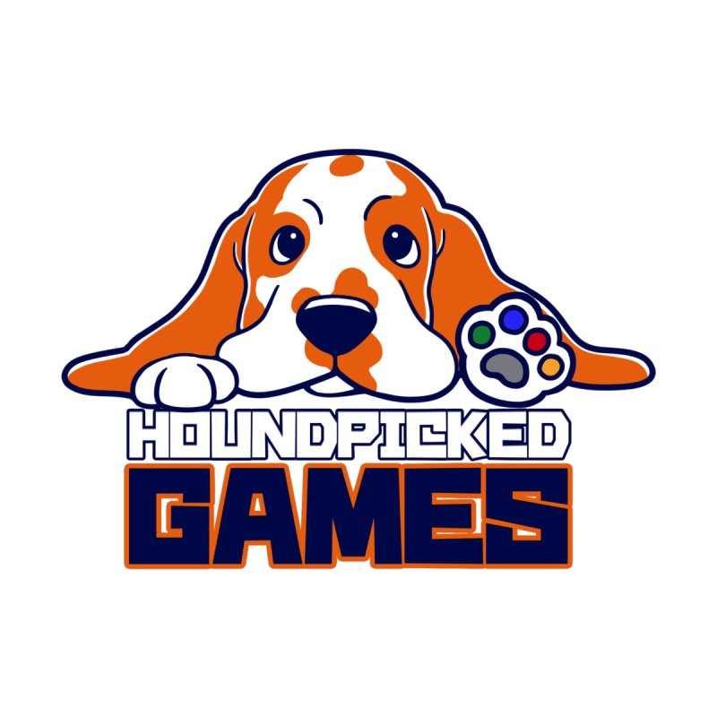 Hound Picked Games Logo (Blue Text) Women's Zip-Up Hoody by Hound Picked Games