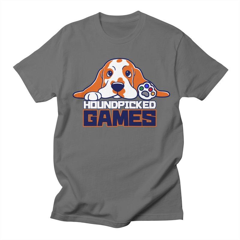 Hound Picked Games Logo (Blue Text) Men's T-Shirt by Hound Picked Games