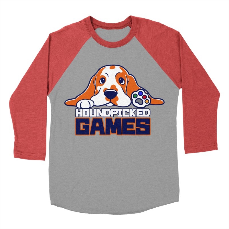 Hound Picked Games Logo (Blue Text) Women's Baseball Triblend Longsleeve T-Shirt by Hound Picked Games
