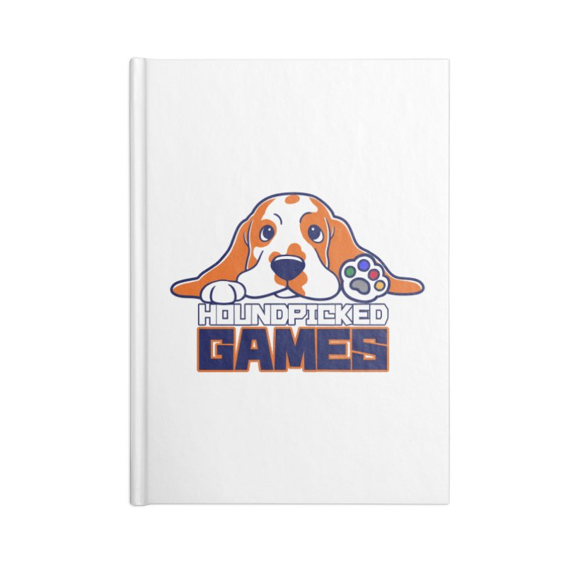 Hound Picked Games Logo (Blue Text) Accessories Notebook by Hound Picked Games