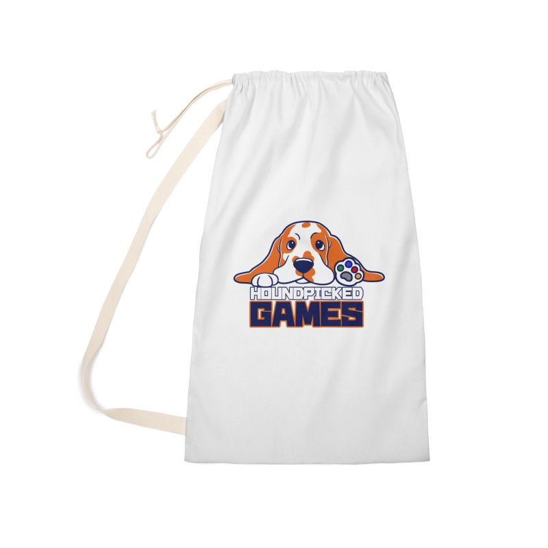 Hound Picked Games Logo (Blue Text) Accessories Laundry Bag Bag by Hound Picked Games