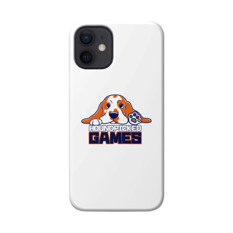 Hound Picked Games Logo (Blue Text) Accessories Phone Case by Hound Picked Games