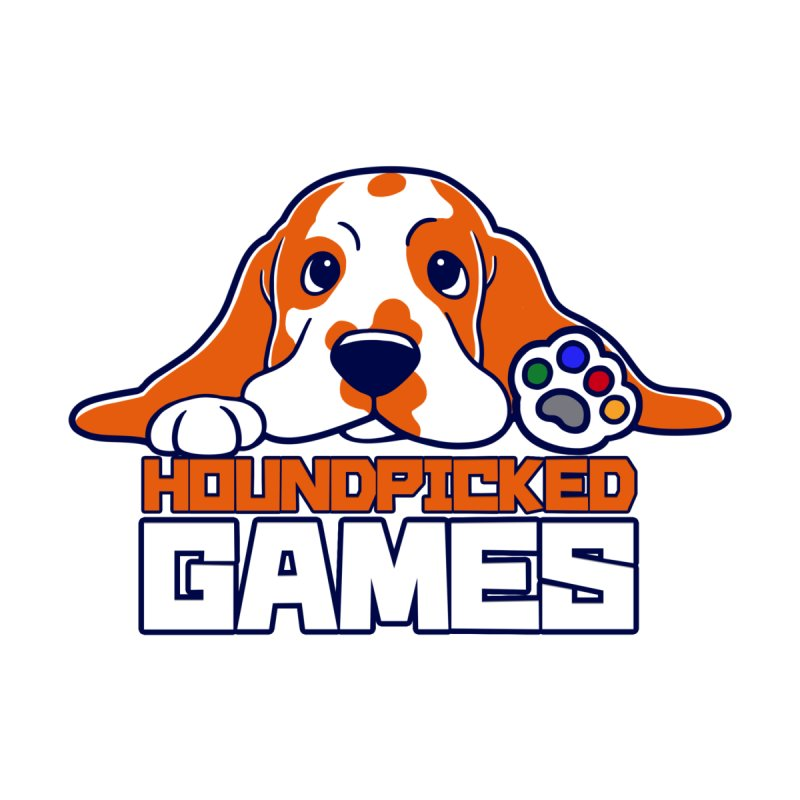 Hound Picked Games Logo (White Text) Kids Longsleeve T-Shirt by Hound Picked Games