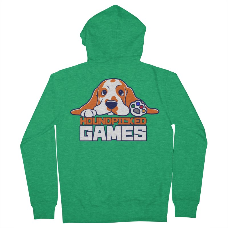 Hound Picked Games Logo (White Text) Women's Zip-Up Hoody by Hound Picked Games