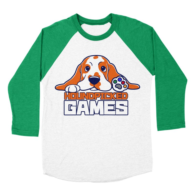 Hound Picked Games Logo (White Text) Women's Baseball Triblend Longsleeve T-Shirt by Hound Picked Games
