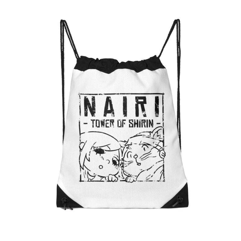 Curious Nairi & Rex! (Black) Accessories Drawstring Bag Bag by Hound Picked Games