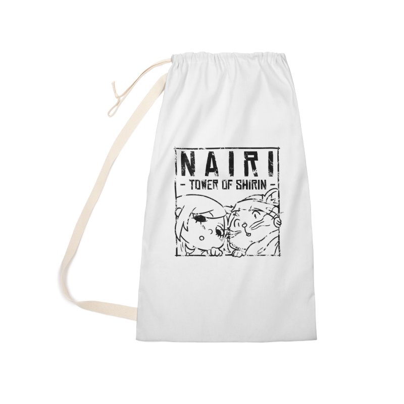 Curious Nairi & Rex! (Black) Accessories Laundry Bag Bag by Hound Picked Games