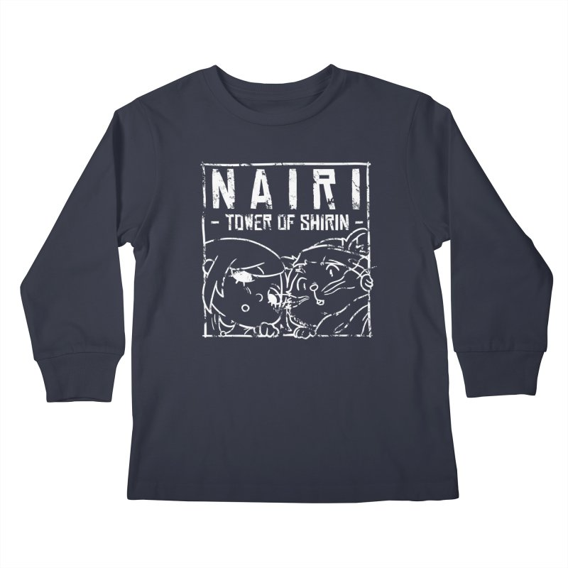 Curious Nairi & Rex! (White) Kids Longsleeve T-Shirt by Hound Picked Games