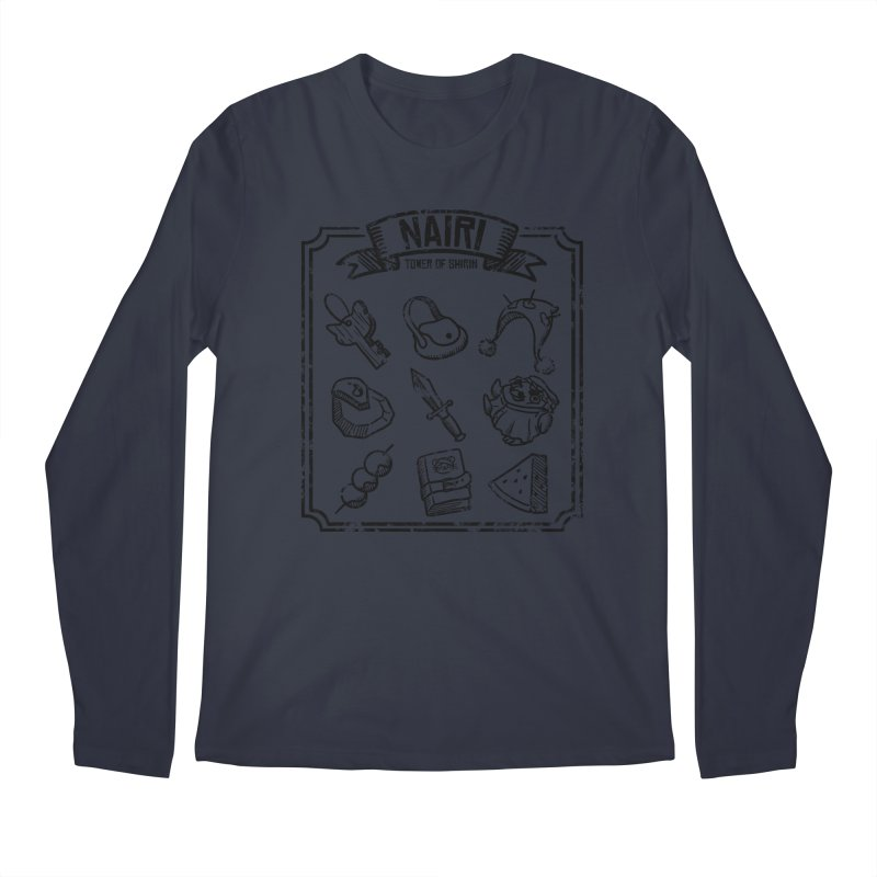 A Whole Bunch of Items! (Black) Men's Longsleeve T-Shirt by Hound Picked Games
