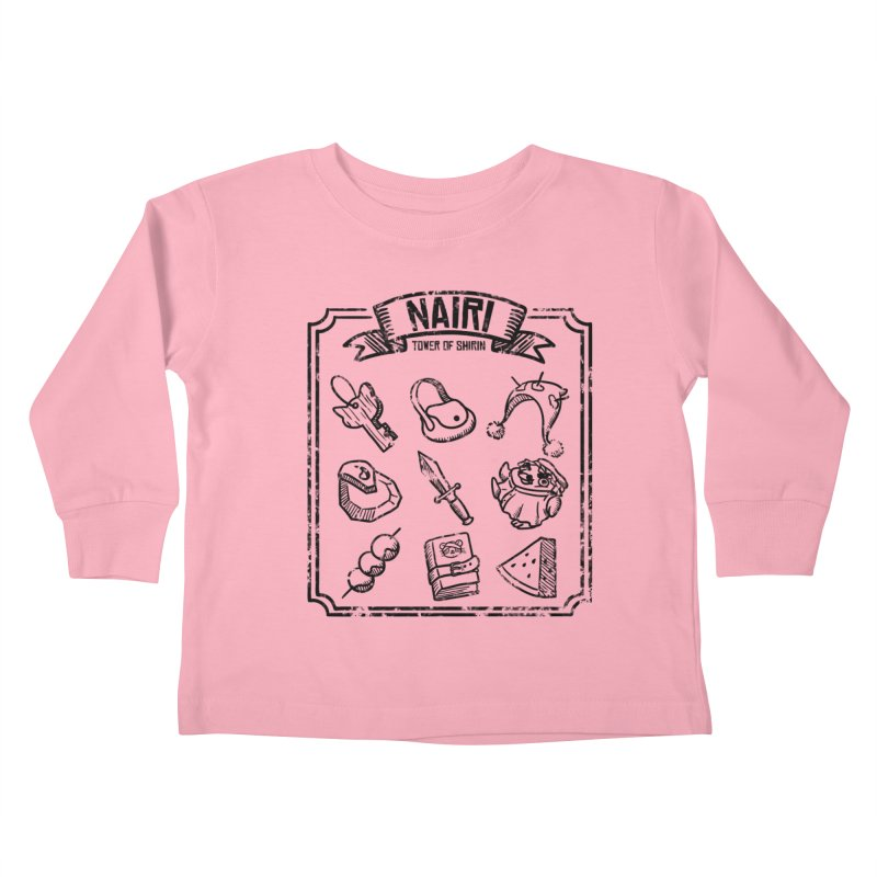 A Whole Bunch of Items! (Black) Kids Toddler Longsleeve T-Shirt by Hound Picked Games