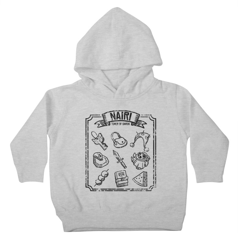 A Whole Bunch of Items! (Black) Kids Toddler Pullover Hoody by Hound Picked Games
