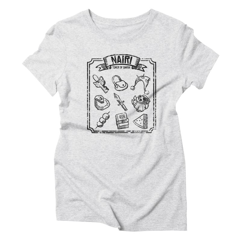 A Whole Bunch of Items! (Black) Women's T-Shirt by Hound Picked Games