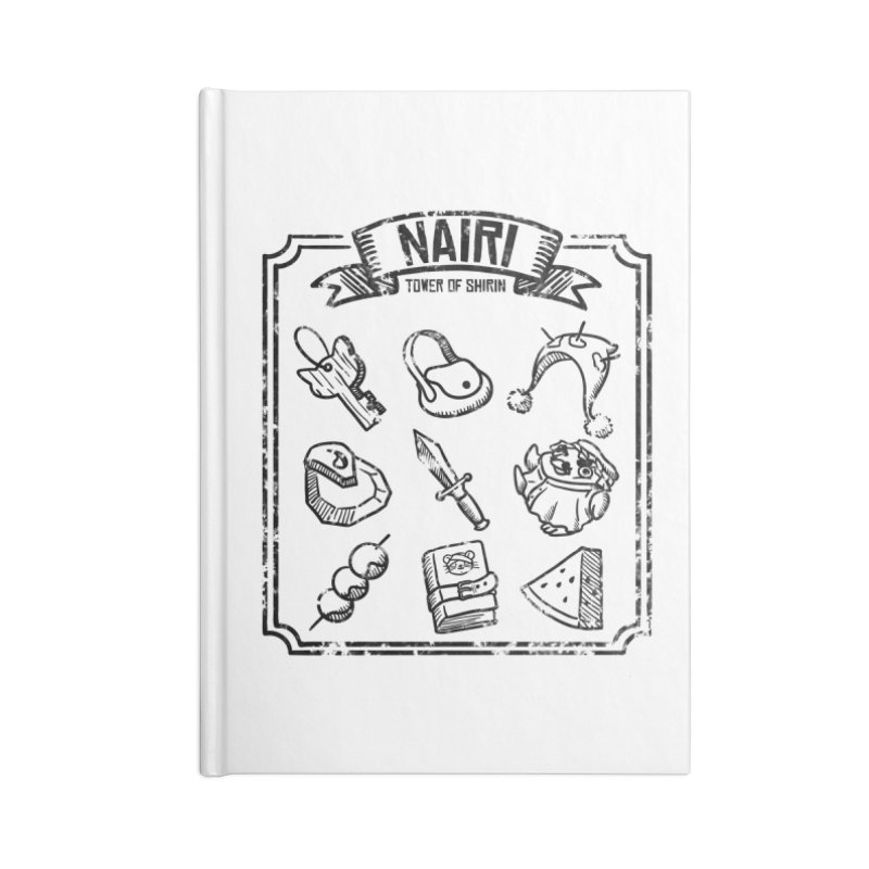 A Whole Bunch of Items! (Black) Accessories Notebook by Hound Picked Games