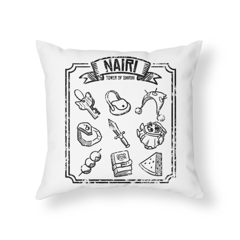 A Whole Bunch of Items! (Black) Home Throw Pillow by Hound Picked Games