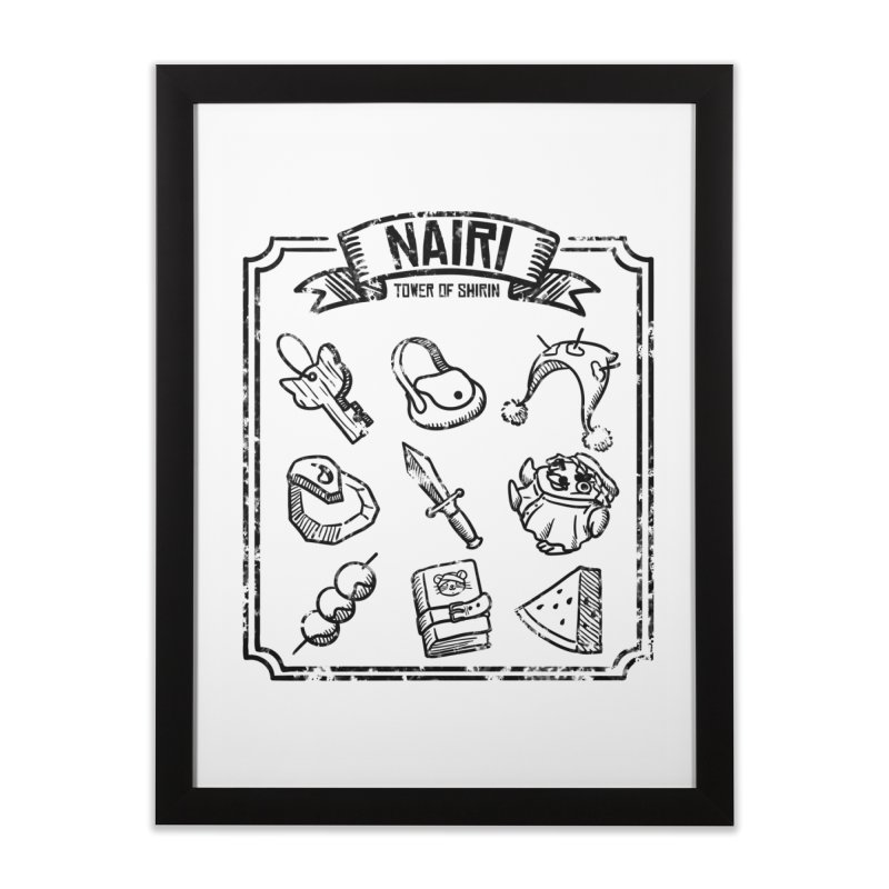A Whole Bunch of Items! (Black) Home Framed Fine Art Print by Hound Picked Games